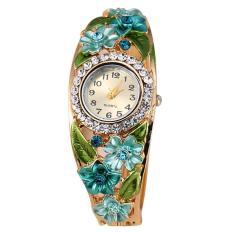 Women Lady Fashion Flower Casual Party Quartz Bracelet Wrist Watch Wristwatch Style B - Intl