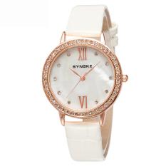 Women Watches Leather Watchband Quartz Watch 5201-Beige (Intl)