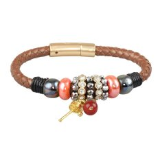 European and American Vintage Leather Alloy Two-color Bracelets Top Quality Hot New Products Pulseiras and Braceletes (Intl)