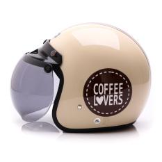 WTO Helmet Retro Bogo - Coffee Lovers - Krem