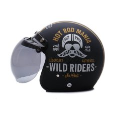WTO Helmet Retro Bogo - Hot Rod - Hitam Doff