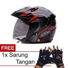 WTO Helmet Z1R PET - R2 Rider - Hitam Merah + Promo Gratis Sarung Tangan