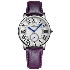Xiuya IBSO Boerni Aibisino Women's Girl Genuine Leather Waterproof Quartz 2 Dials Roman Numerals High Quality Wrist Watch D6801