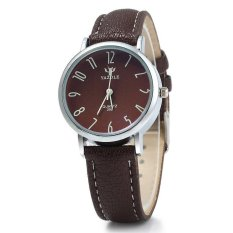 Yazole 299 Business Quartz Watch With Leather Band For Women