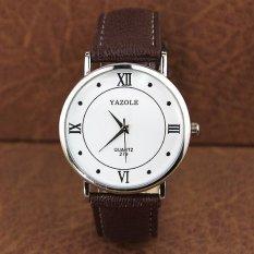 YAZOLE Brand Watch Men Women Watches Quartz Wristwatches Female Male Quartz-watch YZL279-Brown - Intl
