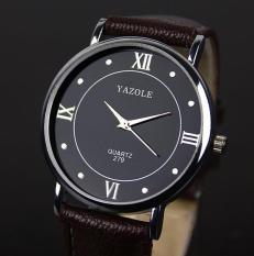 YAZOLE Brand Watch Men Women Watches Quartz Wristwatches Female Male Quartz-watch YZL279H-Brown - Intl