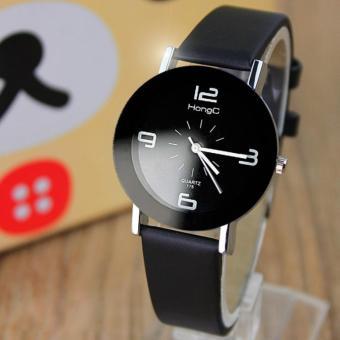 YAZOLE Classical Women Leather Band Fashion Joker Caulse Quartz Wrist Watch YZL175H-B-Black