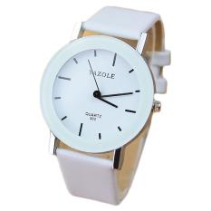 YAZOLE Leather Quartz Watch Women Fashion Wrist Watches Ladies Wristwatch Quartz-watch Female Clock Small Dial (White Strap) - Intl