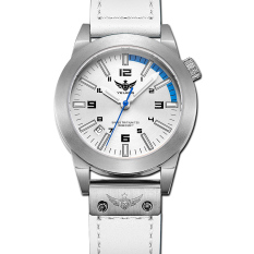 YELANG V1010 Women Style Blue Hand Tritium Gas Green Luminous Waterproof Genuine Leather Strap Business Casual Quartz Watch - Intl