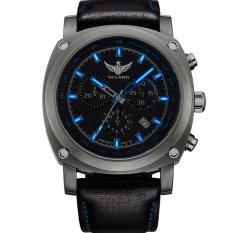 YELANG V3.2.2 Tritium Gas Luminous Sapphire Glass Leather Strap 100m Waterproof Titanium Alloy Sport Wristwatch (Intl)