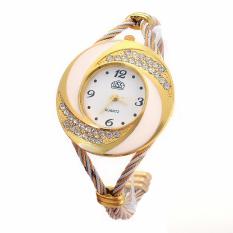 Yika Women Whirlwind Circle Style Steel Analog Quartz Bracelet Watch (White) (Intl)