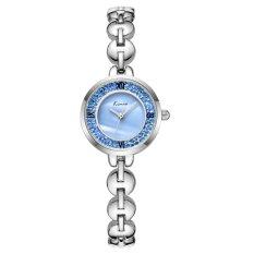YJJZB KIMIO Fashion With Casual Fashion Trend Hot Fashion Watch Quartz Watch Female Form Female Models 6032 (Blue)