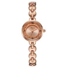 YJJZB KIMIO Fashion With Casual Fashion Trend Hot Fashion Watch Quartz Watch Female Form Female Models 6032 (Gold)