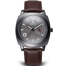 YJJZB SKONE Men Watches Auto Calendar Top Brand Luxury Men Military Wrist Watches Genuine Leather Men Sports Watch Relogio Masculino