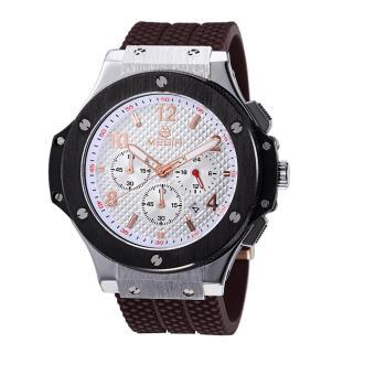 Yooc MEGIR Mountaineering Outdoor Sports Watches Authentic Fashion Waterproof Quartz Watch Men And Women Couple Models 3002G (Brown)