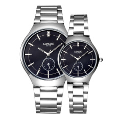 Yooyvso LONGBO Imported From Japan Movement Fashion Simple Dial Stainless Steel Strap Couple Watches