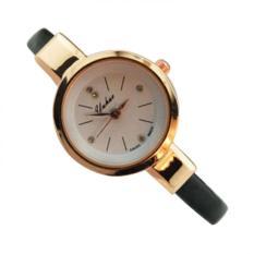 YUHAO 636295 Jam Tangan Kulit Fashion Analog Watch - Hitam