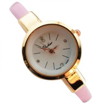 YUHAO 636298 Jam Tangan Kulit Fashion Analog Watch - Pink
