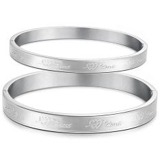 ZUNCLE Heart-shaped Titanium Steel Korean Couple Fashion Classic Jewelry Bracelet (Silver)
