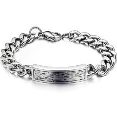ZUNCLE Hip-hop Classic Men's Korean Version Of Personalized Gifts Titanium Steel Bracelet (Silver)
