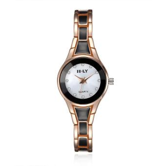 ZUNCLE Ladies Casual Crystal Quartz Wrist Watch (Gold)