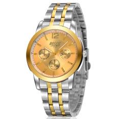 ZUNCLE Men Business Casual Waterproof Stailess Steel Band Wrist Watch (Gold) (Intl)