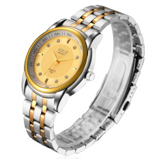 ZUNCLE Men Business Waterproof Stailess Steel Band Wrist Watch (Gold) (Intl)