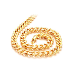ZUNCLE Men Fashion Gift 18K Gold Plated Fashion Jewelry Pendant Necklace Wholesale (Golden)