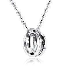 ZUNCLE Punk Hip-hop Style Men Pendant Necklace (Silver) - Intl