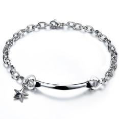 Zuncle Simple Men's Heart-Shaped, Star Titanium Steel Bracelet Jewelry Wholesale (Silver)