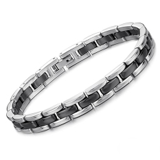 ZUNCLE Simple Stylish Unisex Titanium Steel Ceramic Bracelet (Rose Gold)