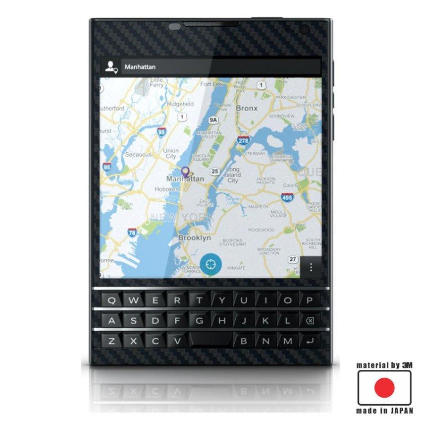 9Skin - Premium Skin Protector Blackberry Passport - Carbon Texture - Hitam