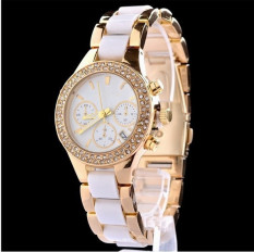 A Hot Style Popular Fashionable Stainless Steel Solid Amber Ceramic Watches With Professional Business Calendar - Intl