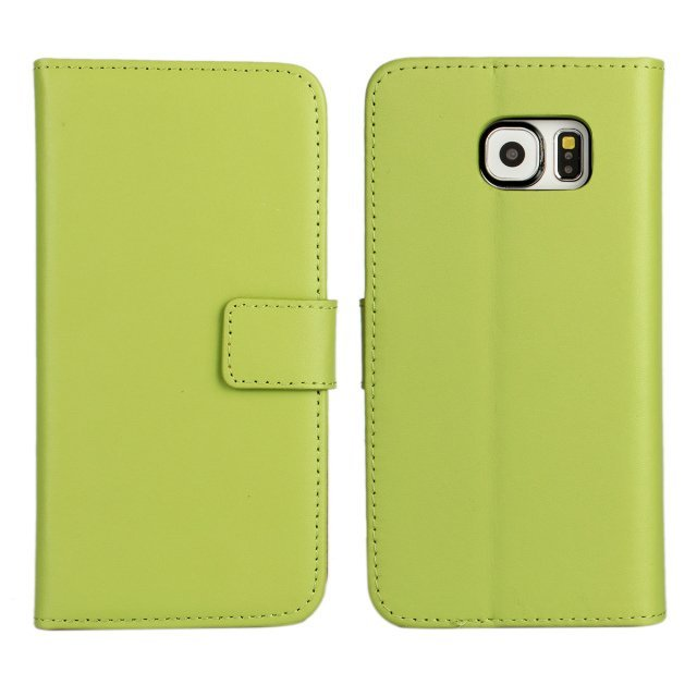 About Leather Purse Holster Cover for Samsung Galaxy S6 (Green)