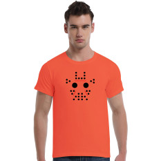 Abstract Giraffe Cartoon Cotton Soft Men Short T-Shirt (Orange) - Intl
