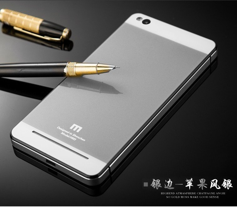 Accessories Hp Backcase Tempered untuk Xiaomi Redmi 3 - Silver + Gratis Tempered Glass