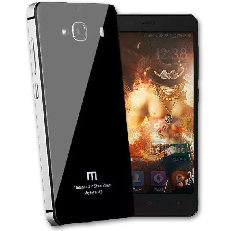 Accessories Hp Prime Tempered Backcase for Xiaomi Redmi 2 - Black Glossy