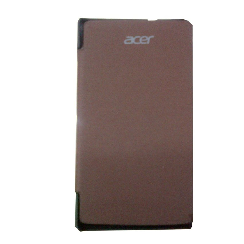 Acer Flip Cover Liquid E3 - coklat + Screen Guard Glare