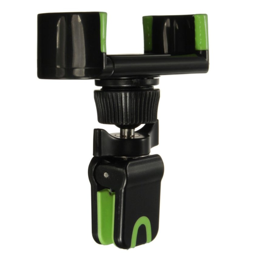 Adjustable 360°Clip Car Air Vent Holder Mount Stand For 50-80mm Mobile Phone GPS Black+Green (Intl)