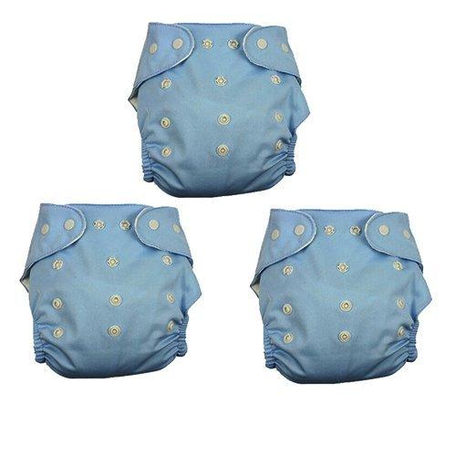 Adjustable Waterproof Washable Baby Cloth Diaper Pants (Blue) (Intl)