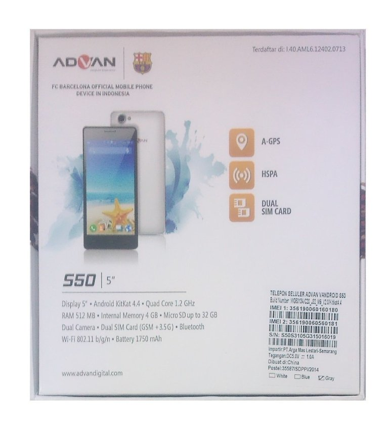 Advan Vandroid S50 - 4 GB - Biru