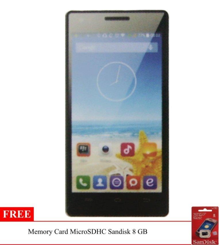 Advan Vandroid S50C - 8 GB - Biru + Gratis Memory Card Sandisk 8 GB