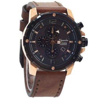 Jam Tangan Alexandre Christie Ac 2641 Coklat Gold alexandre christie ac6517 c jam tangan pria leather