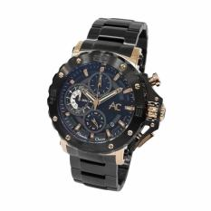 Alexandre Christie Collection - Jam Tangan Pria - Stainless Steel - AC9205 Black Gold