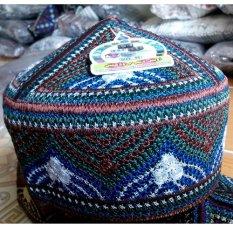 Alia Songkok Peci Pria Biru Hijau Coklat- 002 - Size 58