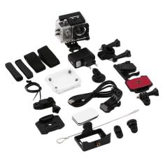 Allwin Full HD SJ4000 2.0 inch 1080P 12MP Sports DV Action Waterproof Camera Silver - Intl