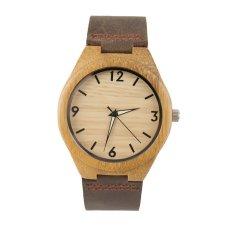 Allwin Vintage Wooden Dial Watch Quartz Watches Men Women Couple Watch Brown Band Brown