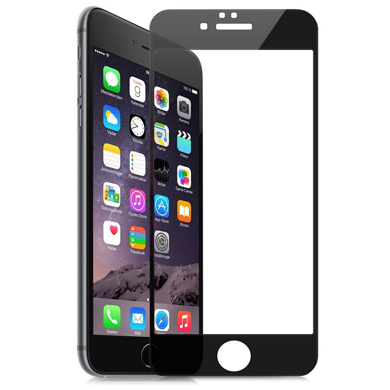 Amazingbox Screen Protector Film Full Cover for iPhone 6 Plus (Black) (Intl)