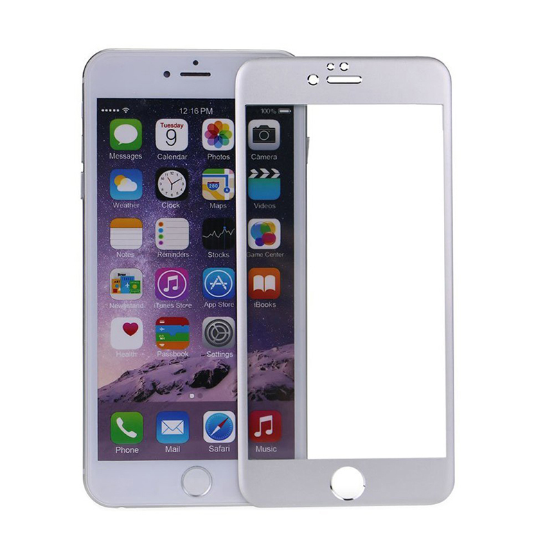 Amazingbox Screen Protector Film Full-Cover for iPhone 6 Plus (Silver) (Intl)