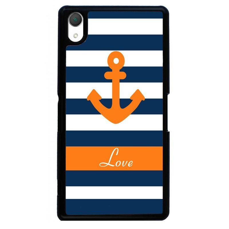 Anchor Striped Painting Phone Case for SONY Xperia Z4 (Black)